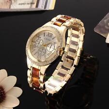 Luxury Geneva Women's Crystal Stainless Steel Quartz Analog Bracelet Wrist Watch