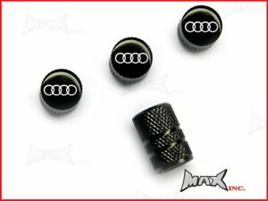 AUDI Emblem Set Of 4 Lasered Logo Tire Valve Caps