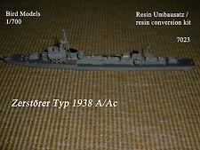 Zerstörer Typ 1938 A/Ac (früh) 1/700 Bird Models Resinumbausatz/resin conversion