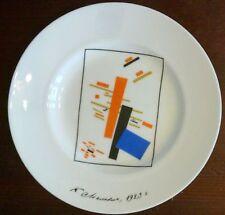 Kleiner Lomonosov Porzellanteller 'Motive des Suprematismus' Malewitsch 15.5cm