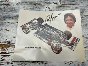 Rick Mears Signed Autograph 8x10 Photo Penske PC-10