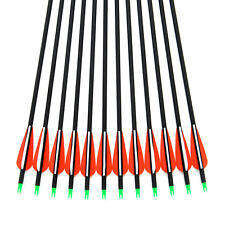 6pcs 75cm  Archery 7.8mm Mix Carbon Arrows Removable Arrowheads Vanes F Hunting