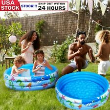 New listing Round Baby Kids Swimming Pool Inflatable Toddler Water Play Summer Outdoor Us