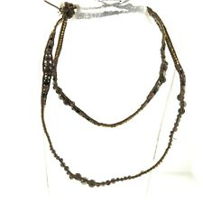 Chan Luu Leather Crystal Woven Necklace or Bracelet