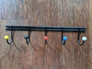 Retro Sputnik Atomic Style Mid Century Miniature Wall Key Hook Rack 50s 60s 24cm