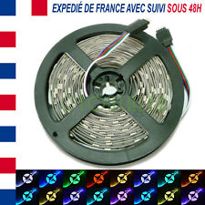 LED STRIP RUBAN BANDE 5M 12V 150 LED 5050 RGB RVB 30 LED/M NON ETANCHE COULEUR