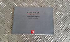 Manuel Notice Utilisation Autoradio NaviDrive - CITROEN C5 I (1)
