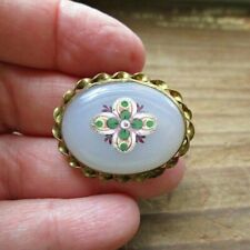 Antique Victorian Glass Slide for Choker or Bracelet - See Photos