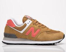 New Balance 574 женские коричневые солнечный красный повседневные спортивные повседневные кроссовки, обувь
