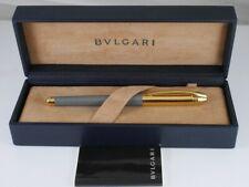 BVLGARI Gray Lacquer and Gold Plated Rollerball Pen (used)