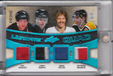 2016 LEAF ULTIMATE QUAD JERSEY PATCH PRIME HOUSLEY MURPHY POTVIN BOURQUE 3/5