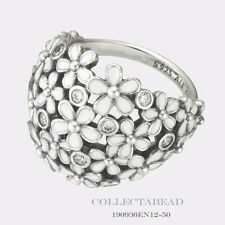 Authentic Pandora Silver Darling Daisy Bouquet Enamel Ring Size(4) 48 190936EN12