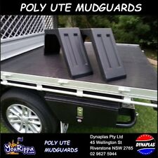 2 x BLACK UTE TRAY TOP MUDGUARDS POLY PLASTIC TRUCK 4X4 4WD FITS ALL TRAYS NEW