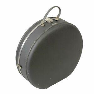 American Tourister Gray Tri-Taper Vintage 1960s Round Hat Train Case Suitcase