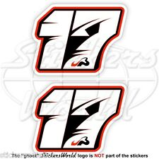 JULES BIANCHI 17 Black Formula F1 75mm Sticker Adesivo Aufkleber Autocollant x2