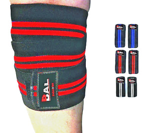Pair Sting knee wraps weight lifting body building GYM training legs Support