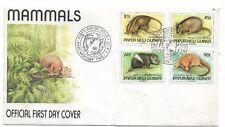 1993 FDC Mammals set 4 FDI Port Moresby 7.4.1993 Unaddressed Cover