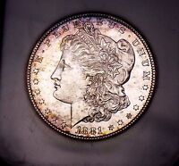 Morgan Silver Dollar 1881 S NGC MS 64++ Old Fatty Holder Toned WOW COIN PQ Gem