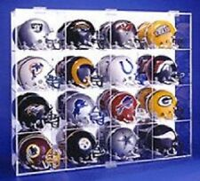 Mini Football Helmet Display Case Holds 16 NFL Made in USA New in Box