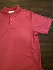 Tommy Bahama Mens Short Sleeve Polo Shirt Red Striped Size Large Used