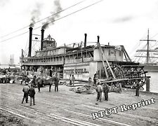 Photograph Steamship Paddle Wheel Nettie Quill Mobile Alabama Year 1905 11x14