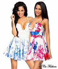 Markenlose geblümte ärmellose Damenkleider mit V-Ausschnitt