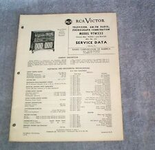 RCA 1949 T3 Service Data Manual Television, AM-FM Radio Phonograph Combo  9TW333