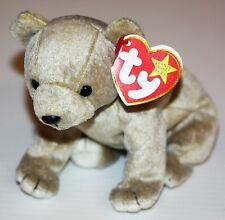(New) Ty Beanie Babies Almond Brown Bear 1999 NWT Plush Stuffed Animal Baby