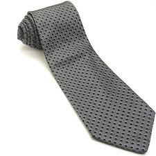 NEW BANANA REPUBLIC 57L Dark Gray Black Beige Polka Dot Silk Wool Mens Neck Tie