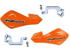 Polisport FFlow Orange Hand Guards Alloy Brackets fits Kawasaki KLR650 11-12