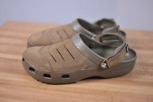 Crocs Bogota Leather Clog Brown Men's 12