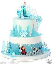Essbar Frozen Eiskönigin Disney Tortenaufleger NEU backen Party-Deko Tortenband