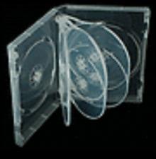 50 SUPER CLEAR 27MM EIGHT 8 DISC DVD CD CASE BOX -AL8