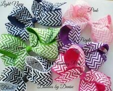 8 Large Boutique Bows, You Pick your Favorite Colors, Dots, Chevron, Any Mix NEW