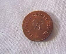 """1936 PEKIN ILLINOIS 1/4 Cent TAZWELL COUNTY TAX TOKEN 5/8"""" *"""