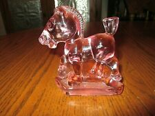 Heisey Glass Pink Plug Horse *HCA 78