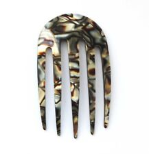 NEW OFFER Hair Comb Made In France Onyx Celluloid Tortoise 3 Inch Hair Clips M34