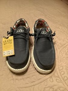 Hey Dude Shoes Men's Wally Stretch Shoe NWT Blue Hey dude Size 10 No Box