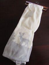 aspen home super soft blanket throw 50x60 new white gray woodland deer