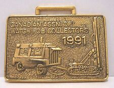 Mining Drill & Compressor Pocket Watch Fob 1991 Show CAOWFC Collector 294 Canada