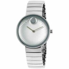 Movado (3680015) Edge Brushed Silver Tone Slim Watch