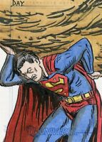 2007 RITTENHOUSE DC LEGACY SUPERMAN SKETCH BY DAY