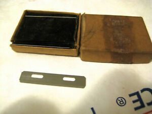 VINTAGE LOT OF INJECTOR SIZE STYLE SAFETY RAZOR BLADES IN GOOD CONDITION