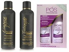 INOAR BRAZILIAN KERATIN TREATMENT BLOW DRY HAIR STRAIGHTENING 500ml POS DUO KIT