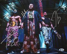 Tama Tonga & Tanga Loa Haku Signed 11x14 Photo BAS COA Bullet Club Firing Squad