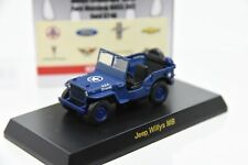 1:64 Kyosho Jeep Willys MB Blue Diecast Model Car