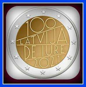 Latvia Lettland kms 2021 COIN 2 euro 100 Latvia De Jure Auflage unz from roll d