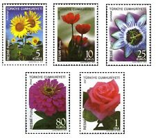 TURKEY 2010, OFFICIAL STAMPS WITH THEME OF FLOWERS, MNH
