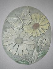Hangable Wall Art Sunflowers And Butterfly Heavy Weight Plaque Home Or Garden
