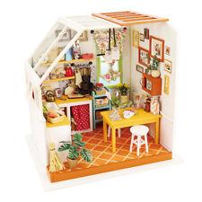 ROBOTIME DIY Dollhouse Wooden Miniature Furniture Kits Kitchen Handmade Craft